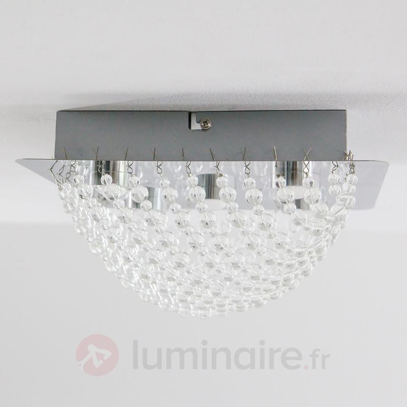 Scintillant plafonnier LED Iva, cristal de verre - Plafonniers LED