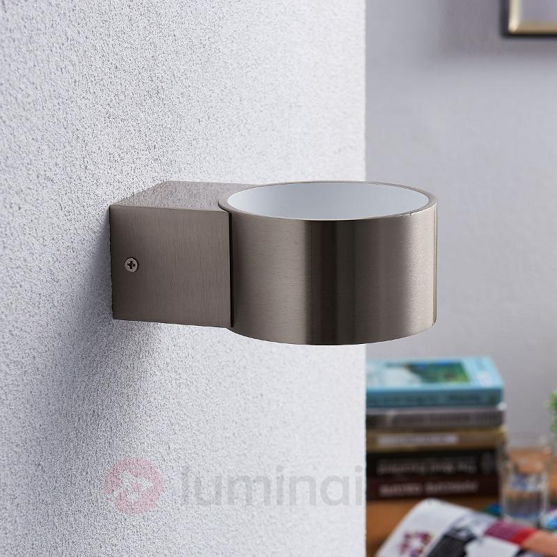 Applique LED nickel Marlea, blanche à l'intérieur - Appliques LED