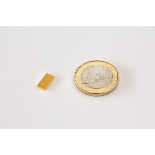 Block magnet, Neodymium, 10x5x1,2mm, N50, Ni-Cu-Au,... - null