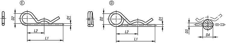 Goupilles beta DIN 11024 - Éléments de liaison