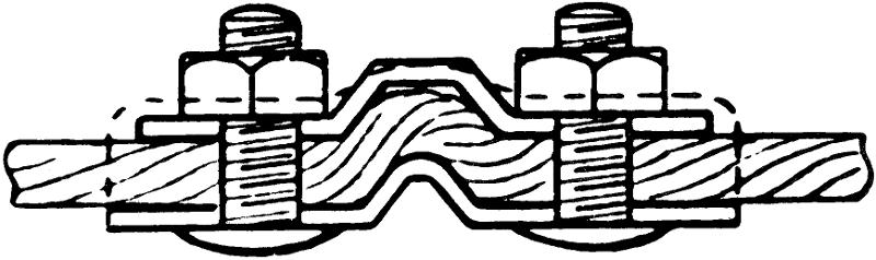 Accessoires câbles - Serre-câble plat galvanisé IRON GRIP - type BGS