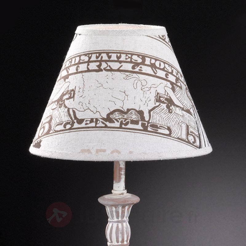 Lampe à poser textile imprimée City - Lampes à poser en tissu