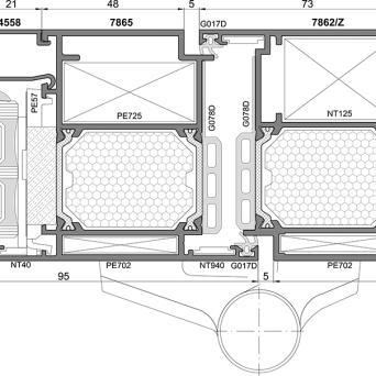 Ponzio PE 78 TÜREN - Aluminiumfenster