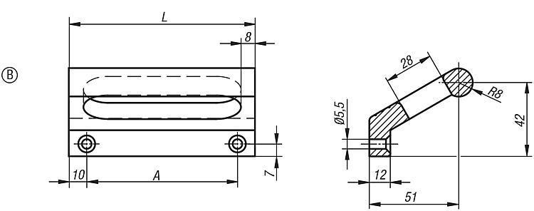Poignée en profilé - Poignées de manutention, poignées tubulaires et poignées alcôve