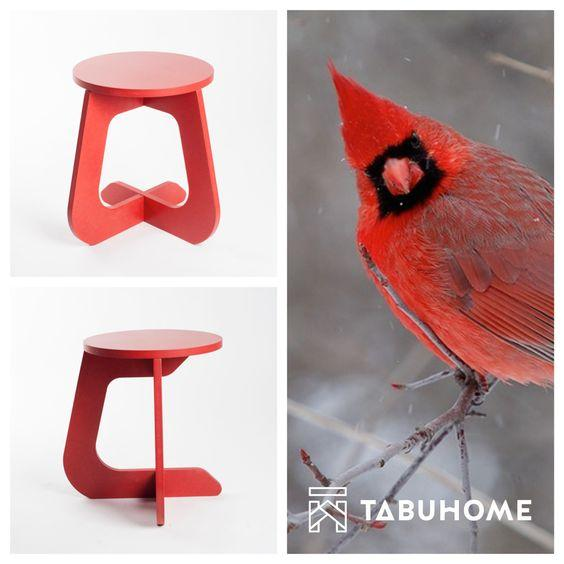 Taburete TABU COLOR Rojo -