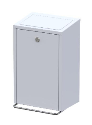 PEDAL BIN HANGING SAFE WITH SOFT CLOSE FUNCTION, - HYGIENIC BIN, ANTIBACTERIAL COATING & INSER