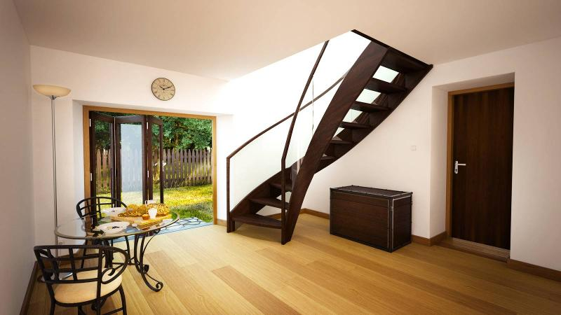 Wood stairs - Bristol