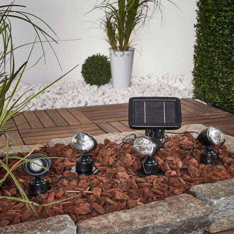 Set de 3 spots solaires Trio PIR - Toutes les lampes solaires
