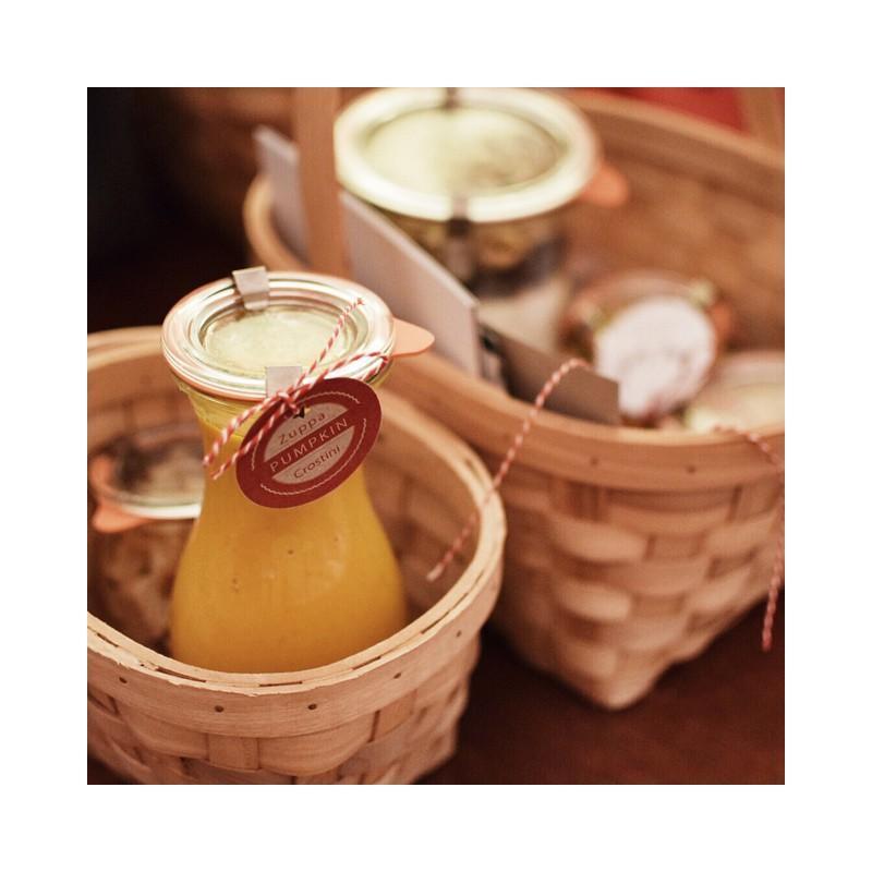 Frasco WECK FLACON® - 6 Botellas WECK® en vidrio Modelo FLACON® en 290 ml con gomas y tapas (clips no