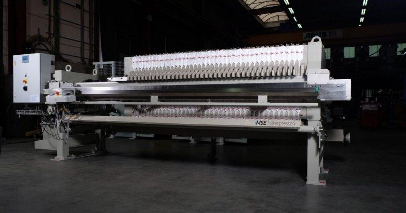 Semi-automatic filter press - The semi-automatic filter press - economical with simple operation