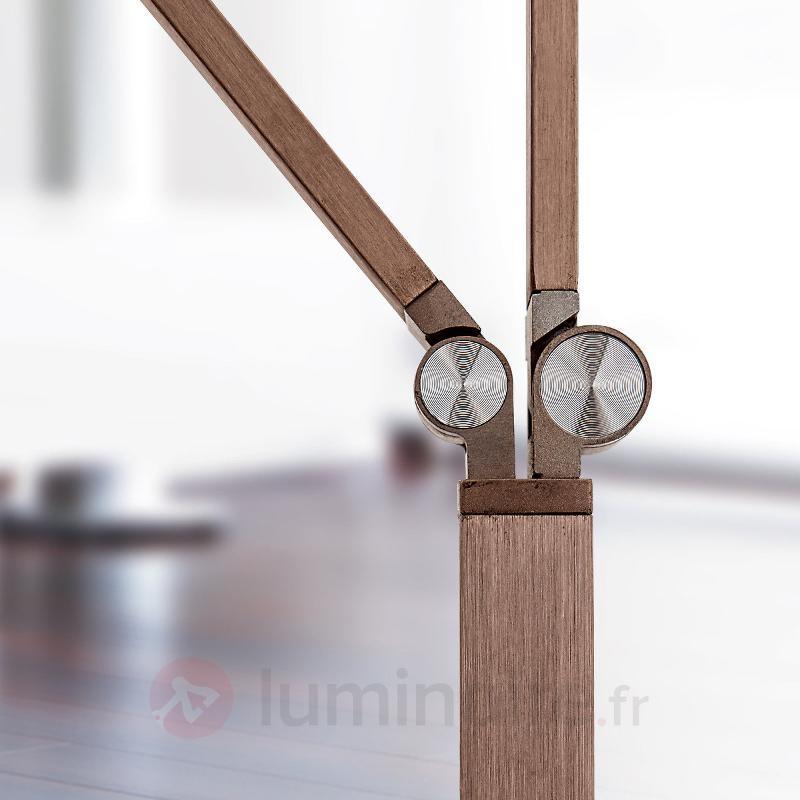Lampadaire LED Ayana 2 lampes, variateur 4 niveaux - Lampadaires LED à éclairage indirect