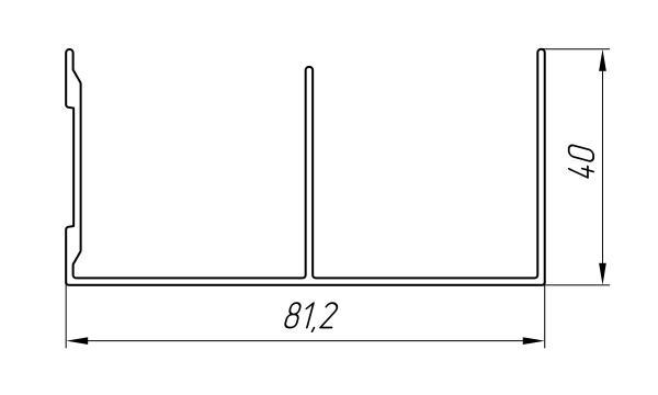 Aluminum Profile For Wardrobes Ат-3454 - Aluminum profile for wardrobes
