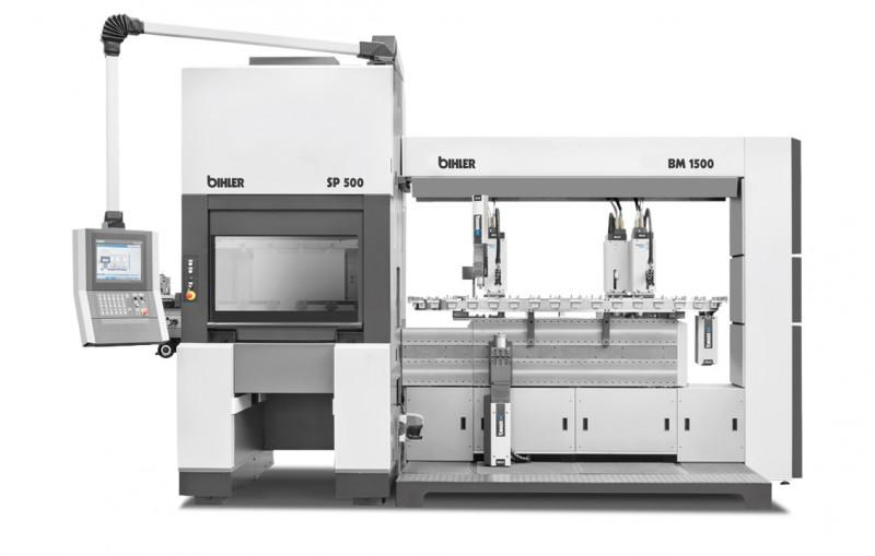 Servo-Produktions- und Montagesystem BIMERIC SP - BIMERIC SP - Folgeverbund- und Bihler-Technologie zur Baugruppenfertigung