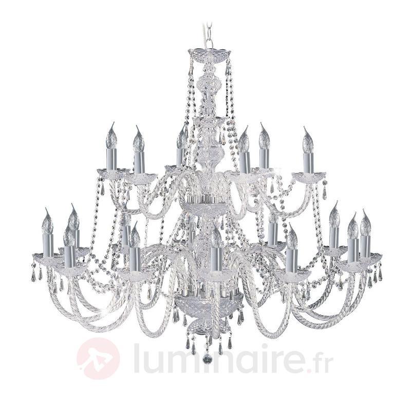 Lustre cristal à 18 lampes HALE - Lustres classiques,antiques