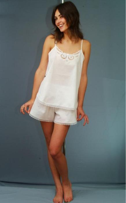 Cotton top and shorts -