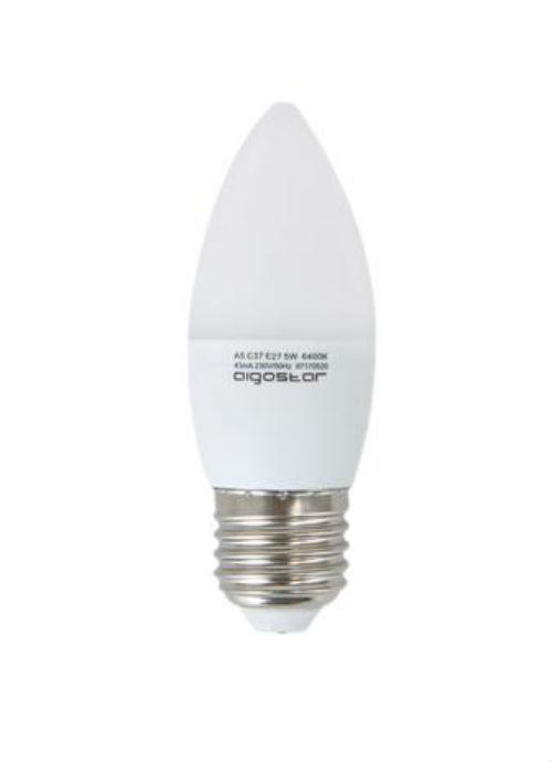 Lampadine LED a candela E14 - 3/4/5/6W opaca 3000/6400K 225/300/320/360/390/450lm
