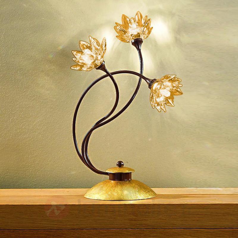 Lampe à poser florale FIORELLA - Lampes à poser en cristal