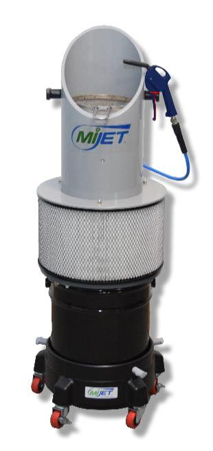 MiJET part cleaning system 20,3cm - Combination Kit with fine mesh parts basket and dolly
