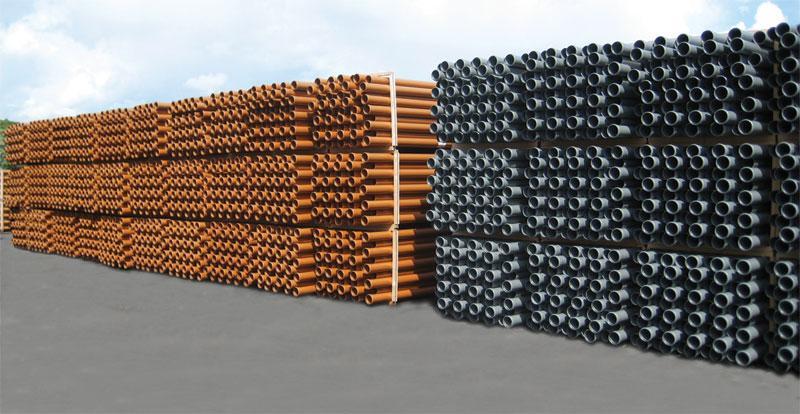 Tuyaux et accessoires d'egouts en rouge brique - 1m 2m 3m et 5 mètres