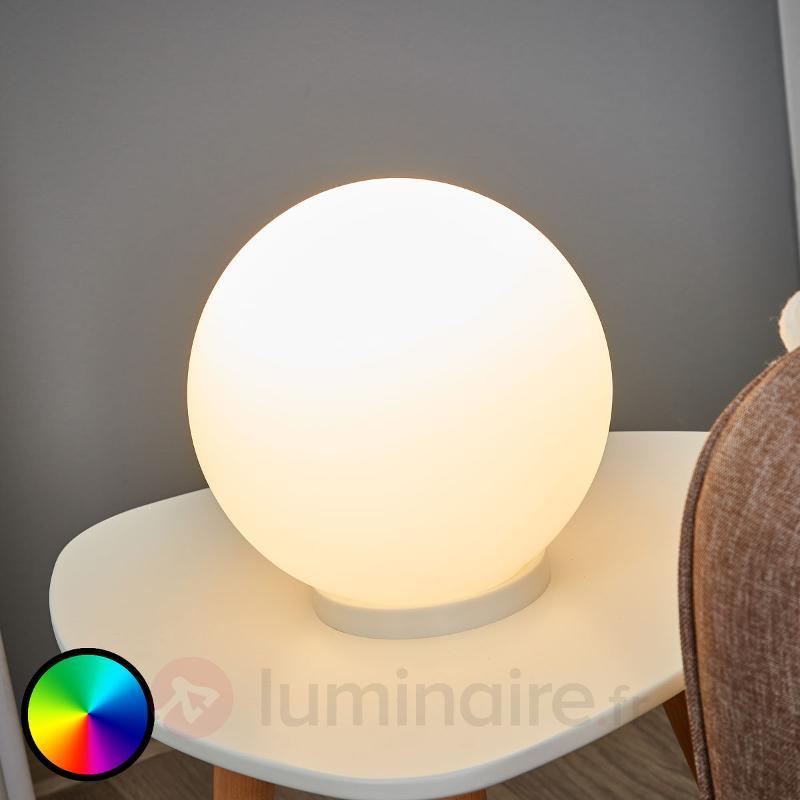 Lampe à poser LED RGBW sphérique Rondo-C - Lampes à poser LED