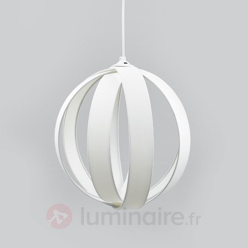 Belle suspension en tissu Valento en blanc - Suspensions en tissu
