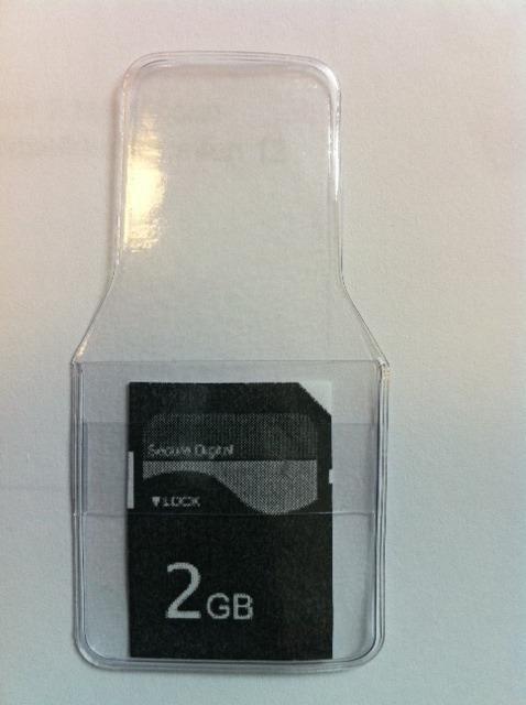 Klarsichttasche für 1 SD-Karte - Schutztasche für... - Klarsichttaschen für USB/Speicherkarten
