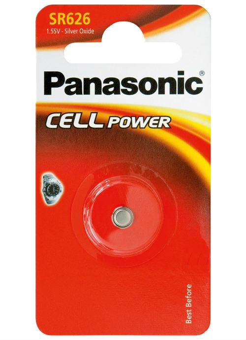 Microbatterie all'ossido d'argento SR626 - SR-626EL/1B | Blister da 1 microbatteria a bottone Panasonic