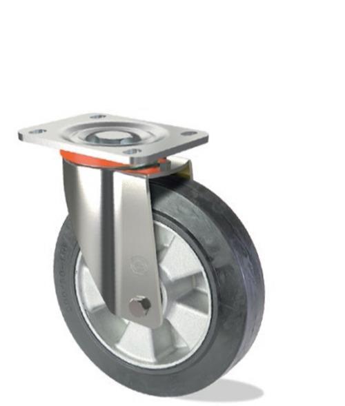 Ruota in gomma elastica con nucleo in alluminio - Serie pesante