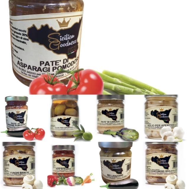 Prodotti Siciliani - Olio extra vergine di oliva, patè, conserve, confetture