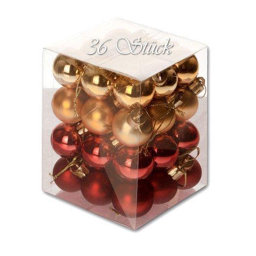 Weihnachtskugel 36 Stück 3cm Durchmesser Farbe: Gold /... - null