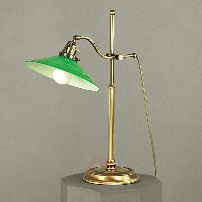 Verdina Table Light in Patina Look Green - Desk Lamps