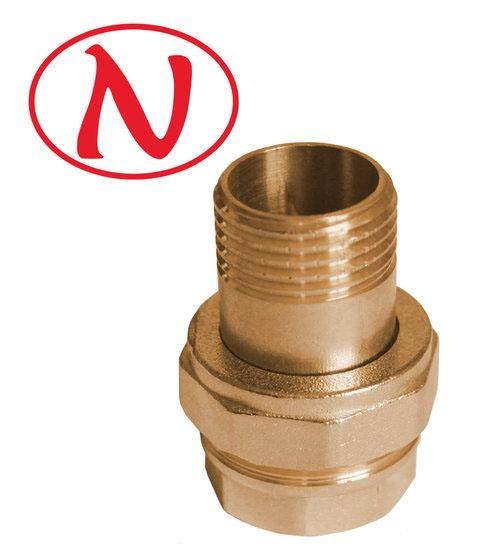 "Brass Straight connector 1/2"" /HS -"