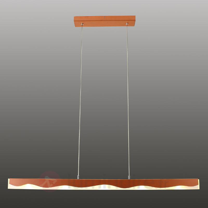 La Mer - suspension en cuivre, abat-jour ondulé - Lampes connectées