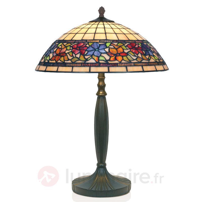 Lampe à poser FLORA fabriquée à la main - Lampes à poser style Tiffany