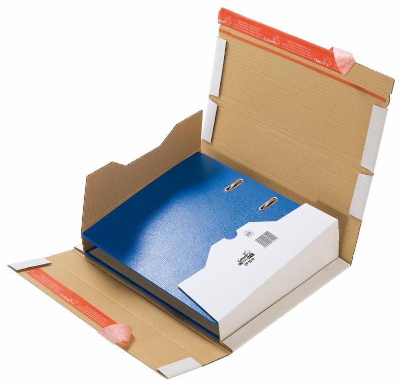 Versandkarton für A4 Ordner - weiß - Ringbücher, Ordner, Sammelmappen
