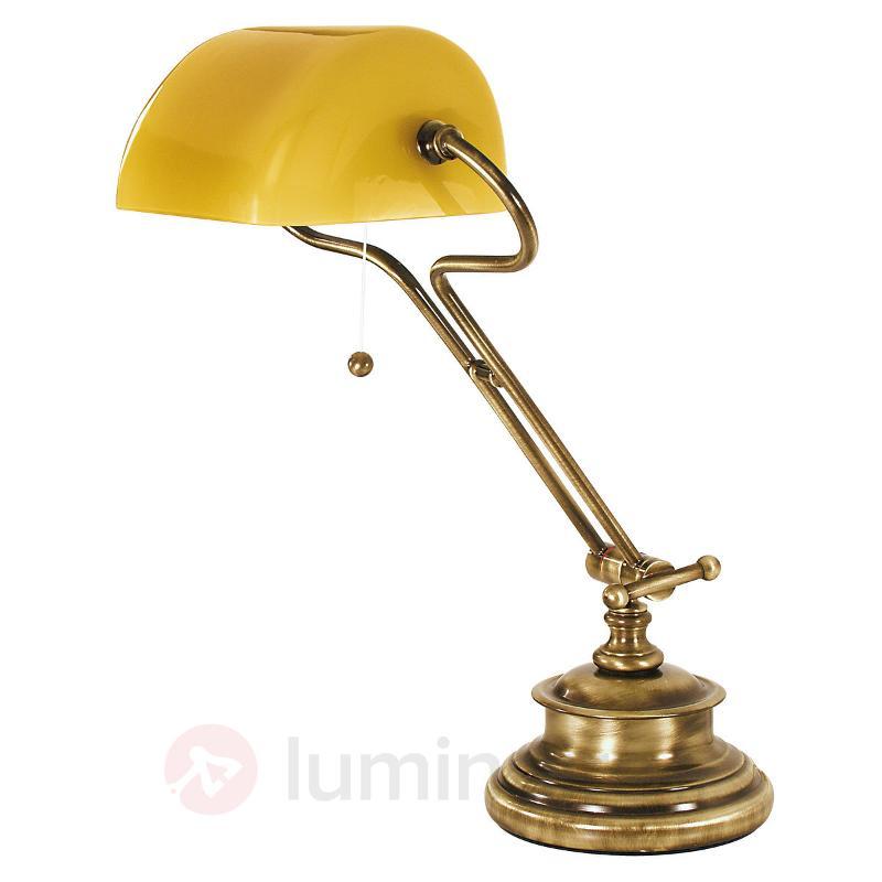 Jolie lampe à poser FIGI en laiton bruni - Lampes de bureau