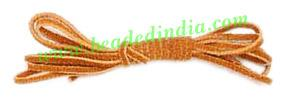 Flat Suede Leather Cords 3.0mm, Color - Rusty Brown. - Flat Suede Leather Cords 3.0mm, Color - Rusty Brown.