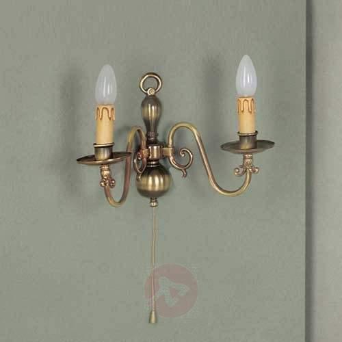 Imke Wall Light Old Brass Two Bulbs - Wall Lights