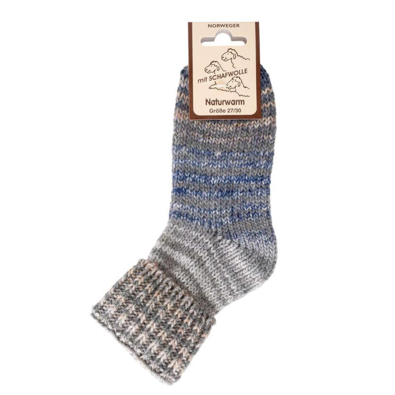 "3198 - Kids Wool Socks ""Scandinavian Style"" - High quality color changing yarn - each sock is unique. Thick, warming, exceptio"