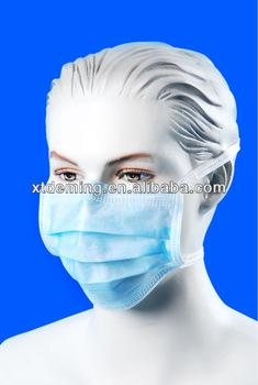 3-ply Disposable Tie Face Mask inCE,ISO13485 Standard