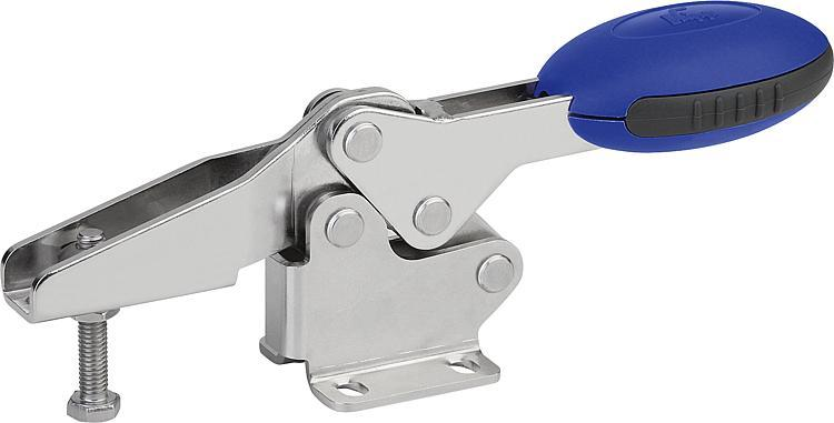 Horizontal Toggle Clamps with flat foot and adjustable... - K0660