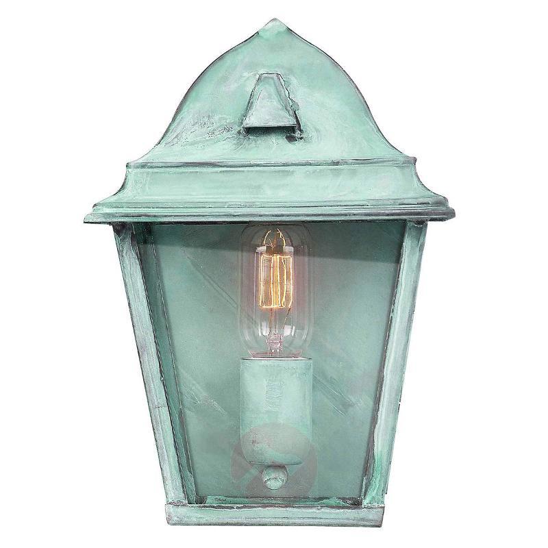Green outdoor wall lamp St. James Verdi, brass - Outdoor Wall Lights
