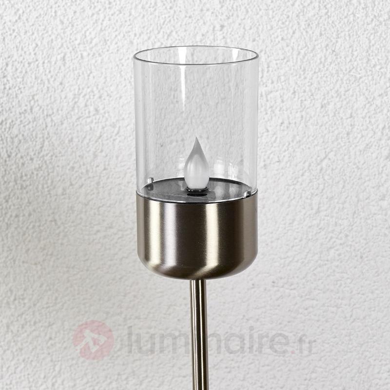 Lampe solaire LED Milli vacillante avec piquet - Lampes solaires décoratives