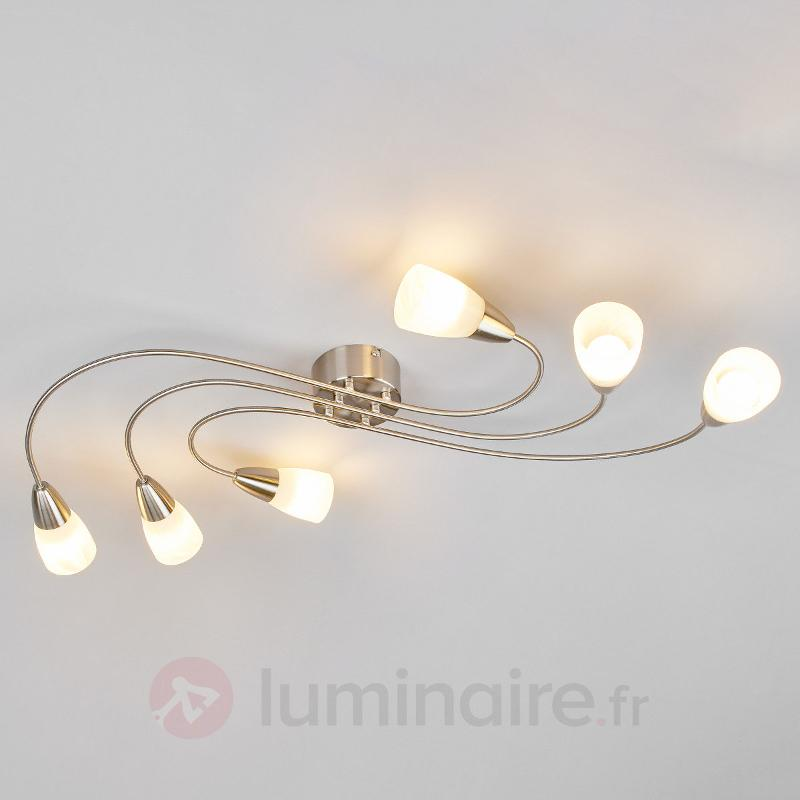 Plafonnier LED Zariah E14 à six lampes - Plafonniers LED