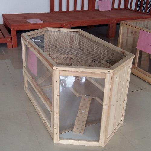 Hámster jaula - Rombo de madera