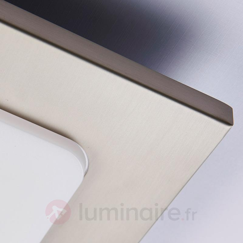 Plafonnier LED rectangulaire Mariella, nickel mat - Plafonniers LED