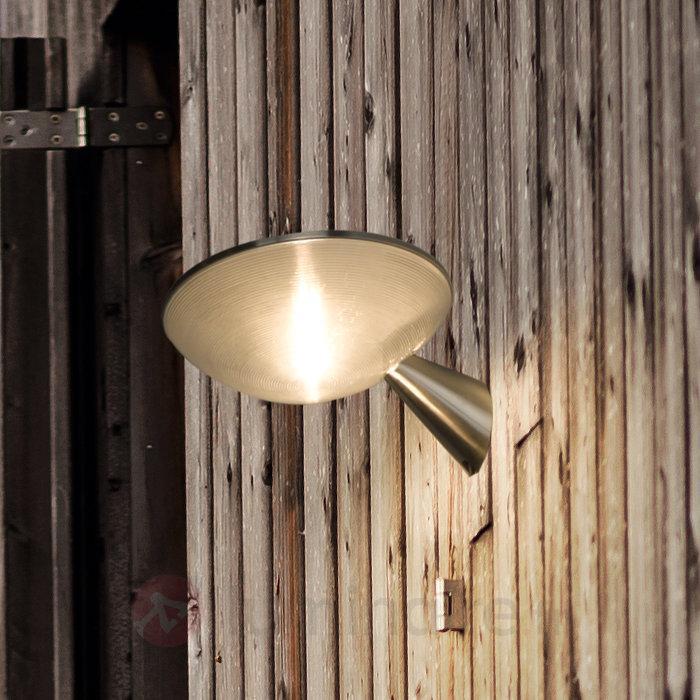 Applique d'extérieur solaire LED Barley en inox - Appliques solaires