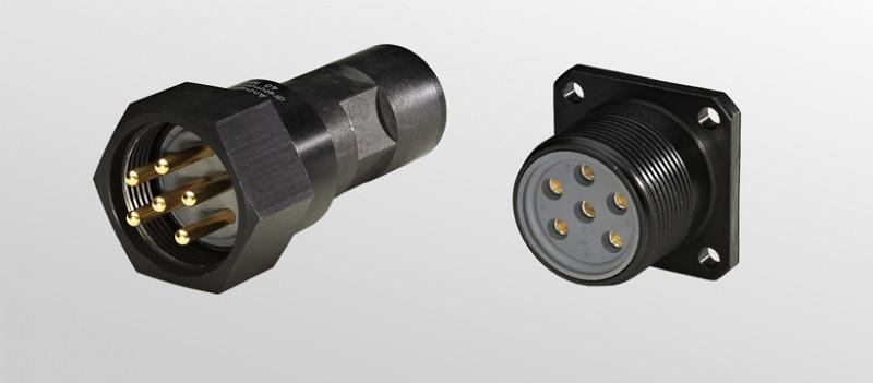 Circular connectors SB  for special applications - Special connectors with machined precision contacts and rubber sealed inserts