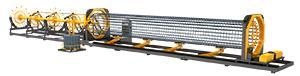 Станок для изготовления каркасов колонн SGH15-12 - Скорости движения и выпрямления арматуры контролируются