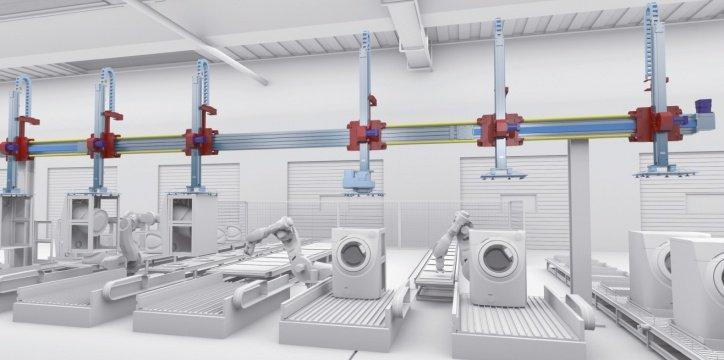 Multi-Axes Pick and Place - Versatile multi-axis system designed for feeding machine stations.